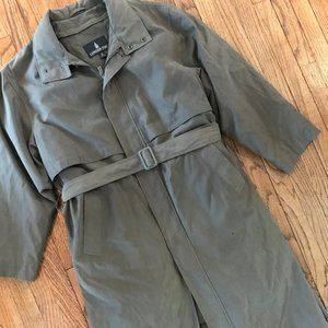 London Fog Insulated Raincoat Belted Trench 40R